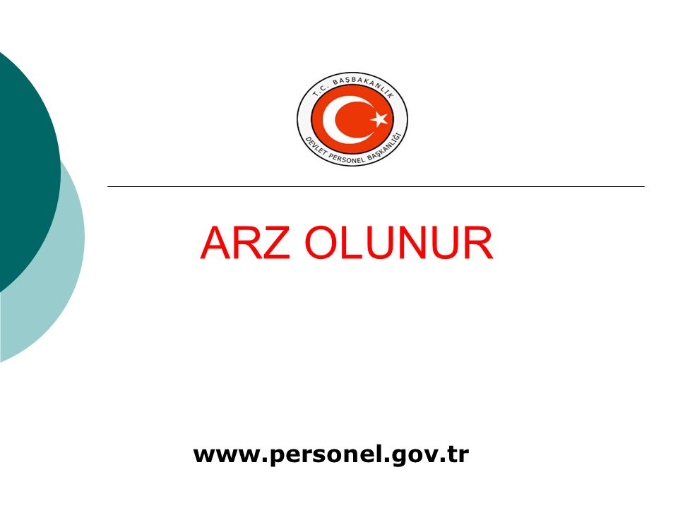 ARZ OLUNUR www.personel.gov.tr