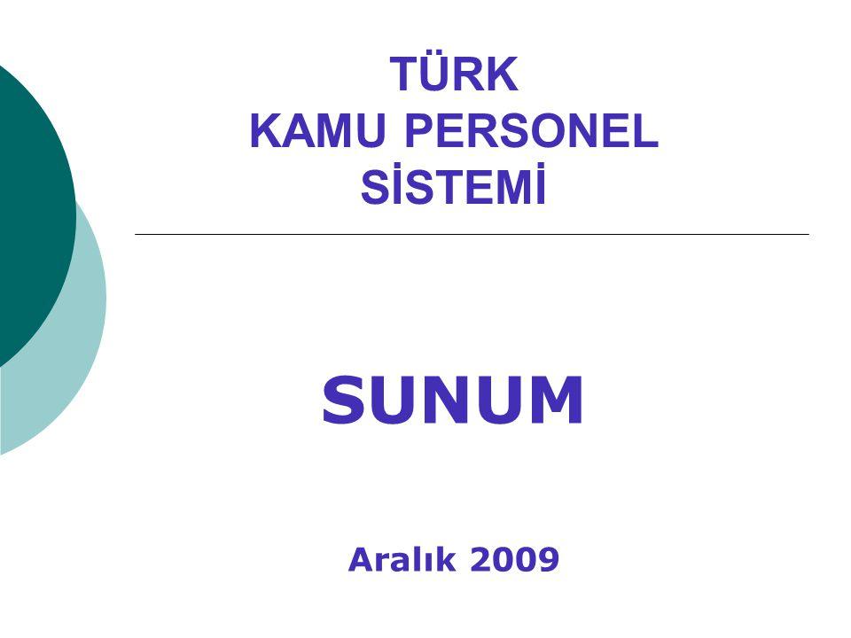 TÜRK KAMU PERSONEL SİSTEMİ