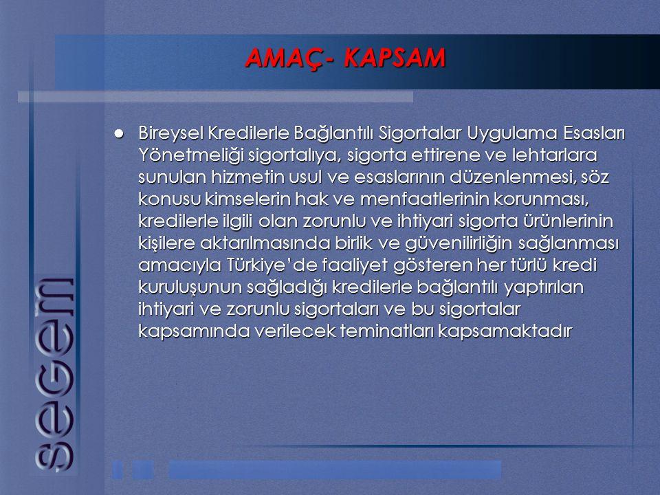 AMAÇ- KAPSAM