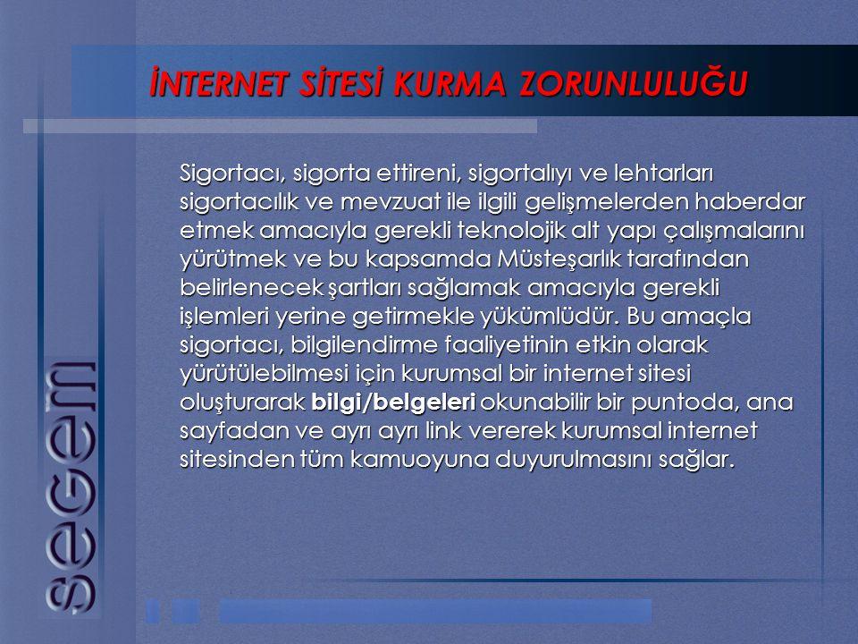 İNTERNET SİTESİ KURMA ZORUNLULUĞU