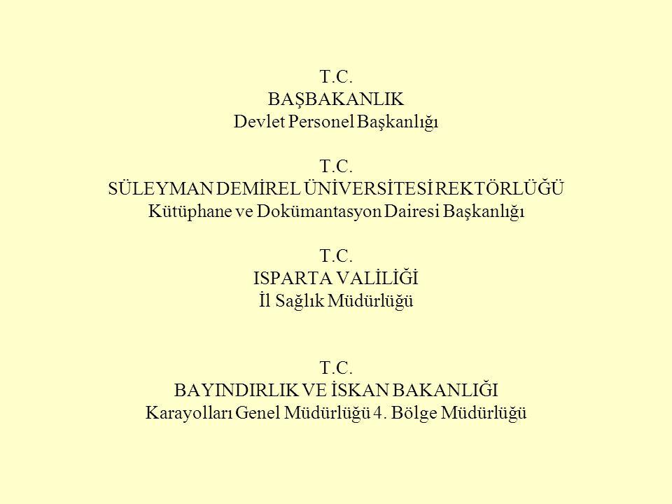 T. C. BAŞBAKANLIK Devlet Personel Başkanlığı T. C