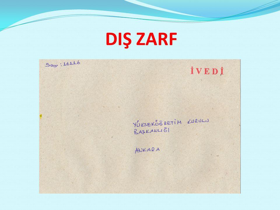 DIŞ ZARF
