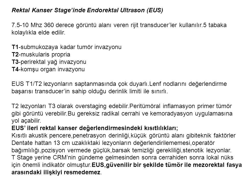 Rektal Kanser Stage'inde Endorektal Ultrason (EUS)