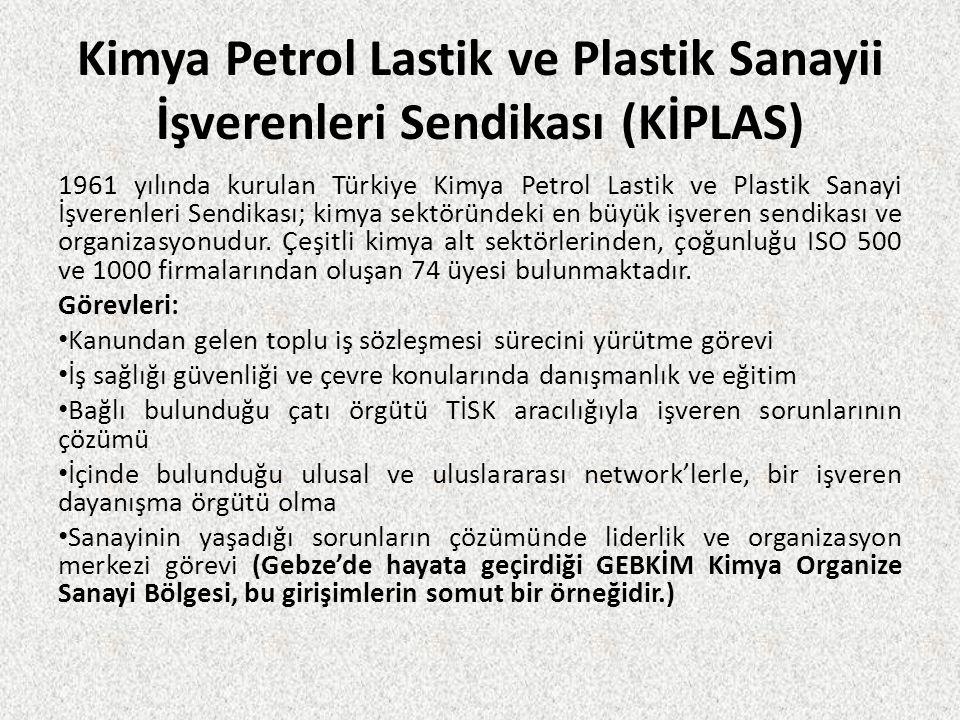 Kimya Petrol Lastik ve Plastik Sanayii İşverenleri Sendikası (KİPLAS)