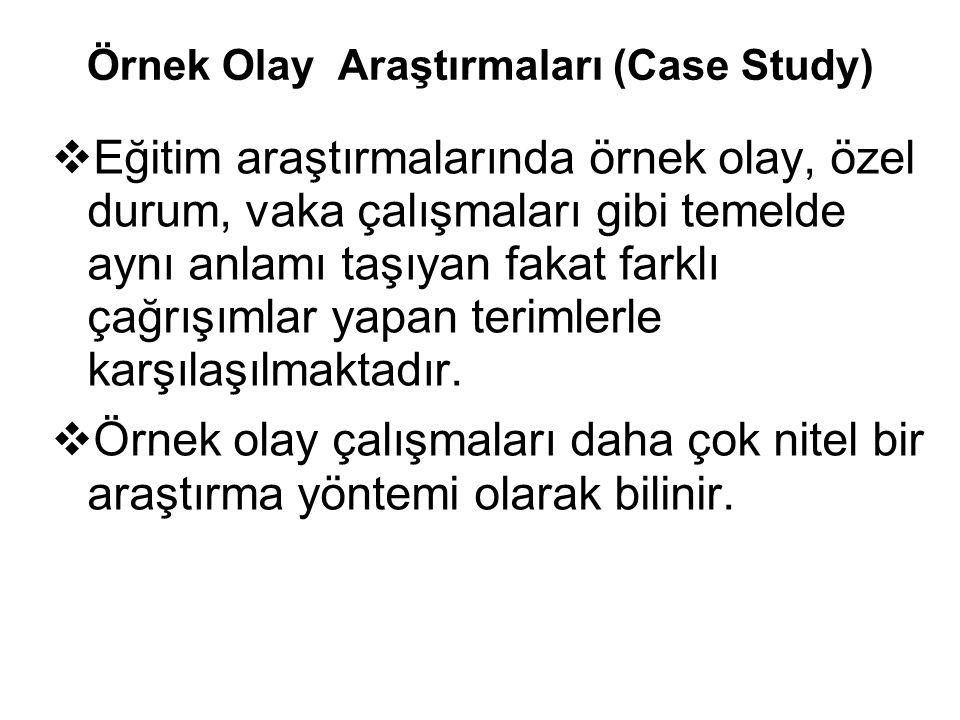 Örnek Olay Araştırmaları (Case Study)