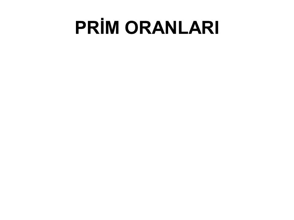 PRİM ORANLARI