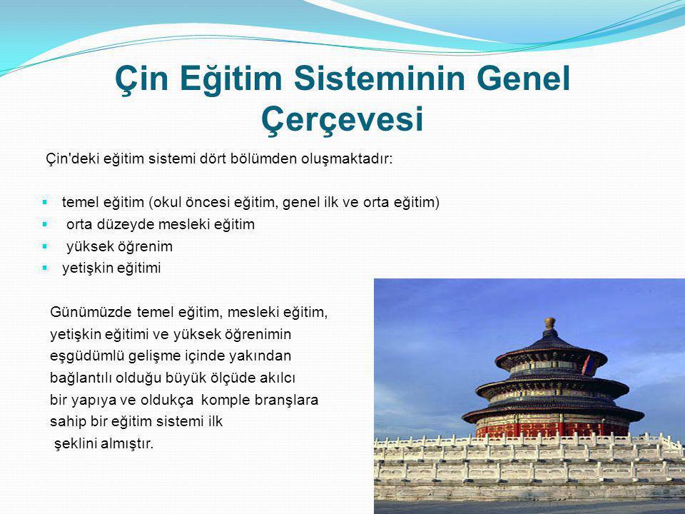 Çin Eğitim Sisteminin Genel Çerçevesi