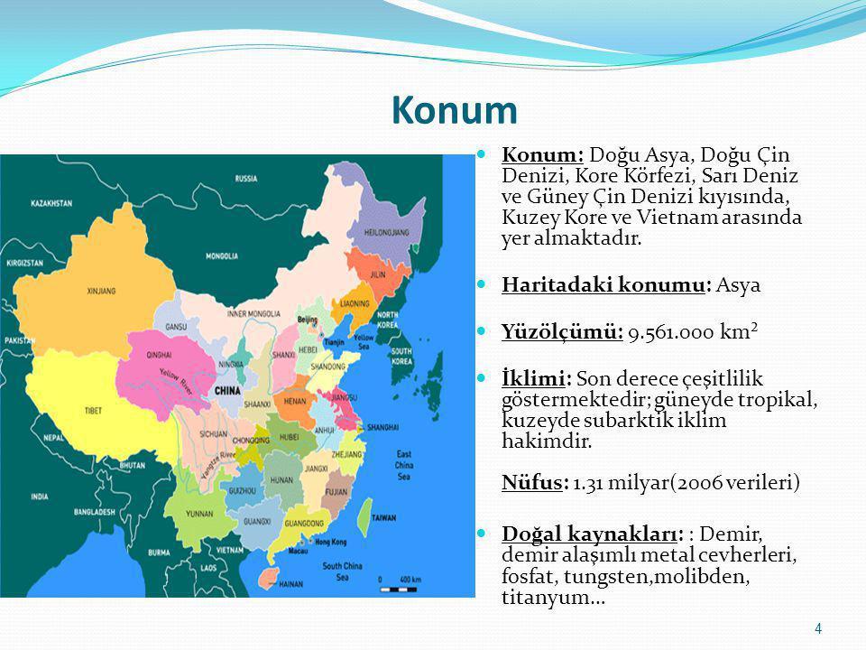 Konum Konum: Doğu Asya, Doğu Çin Denizi, Kore Körfezi, Sarı Deniz ve Güney Çin Denizi kıyısında, Kuzey Kore ve Vietnam arasında yer almaktadır.