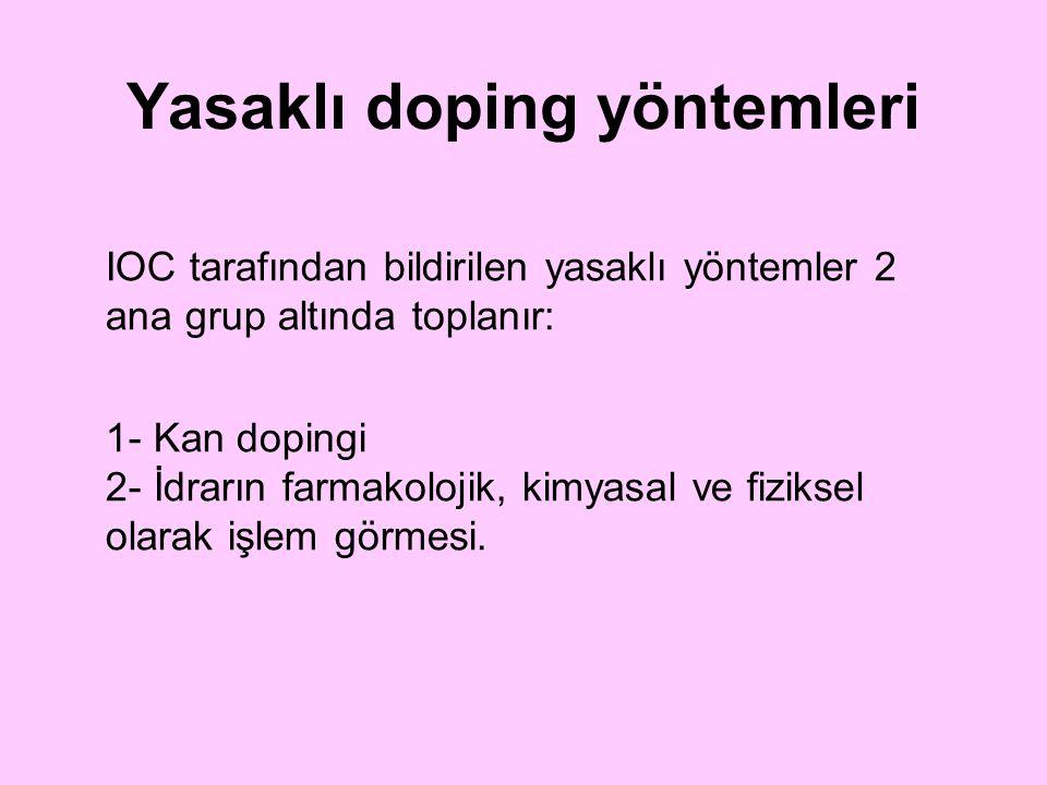 Yasaklı doping yöntemleri