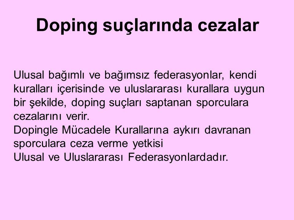 Doping suçlarında cezalar