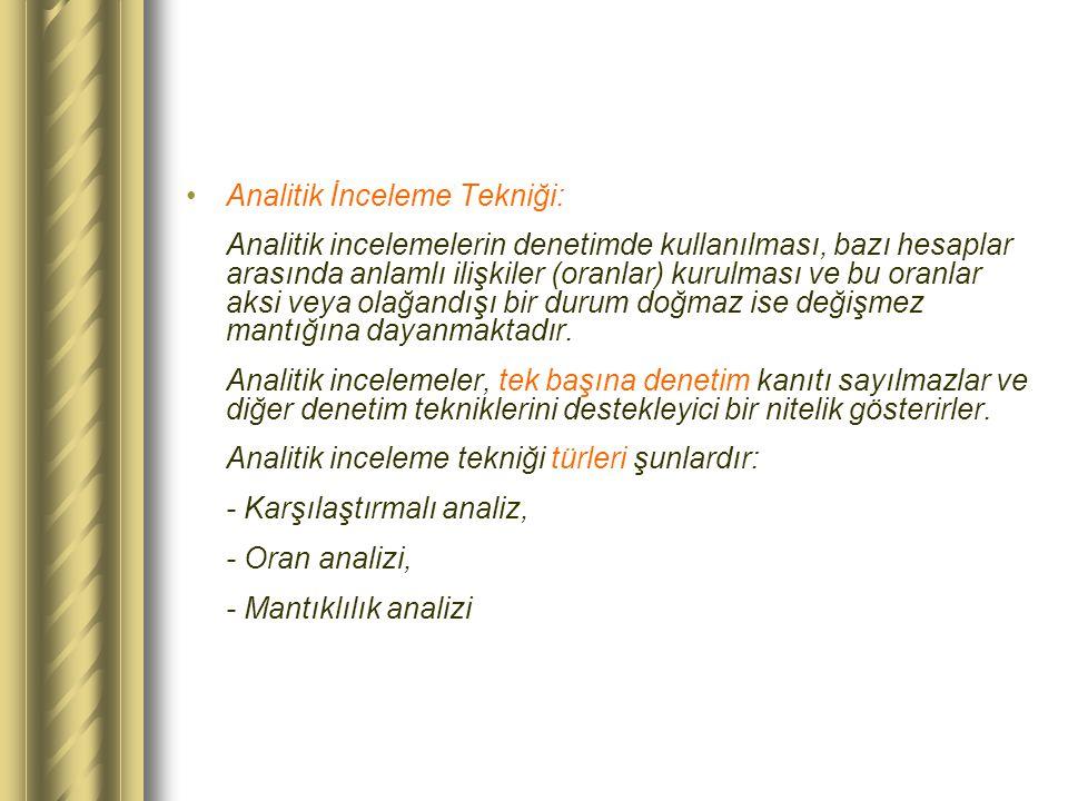 Analitik İnceleme Tekniği: