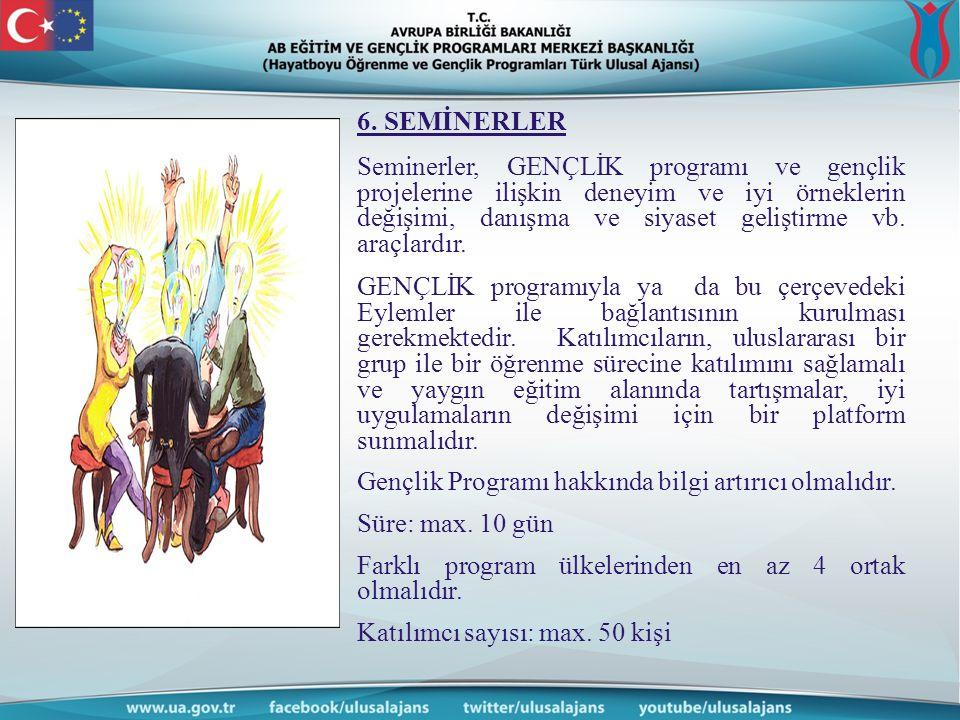 6. SEMİNERLER