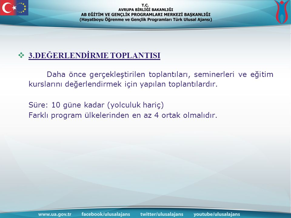 3.DEĞERLENDİRME TOPLANTISI