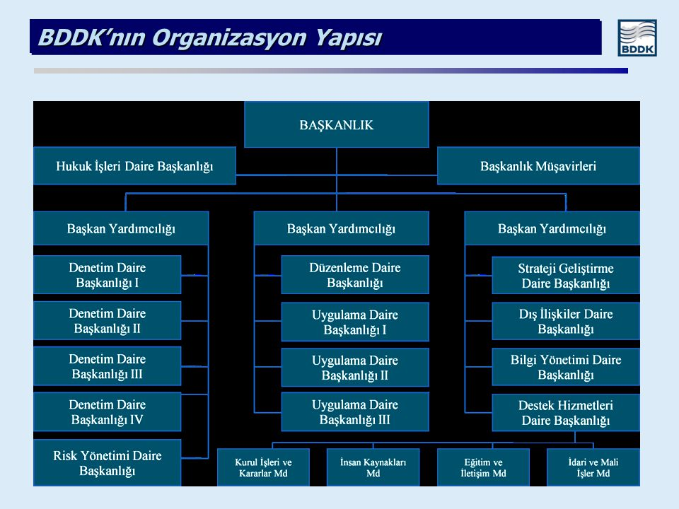BDDK'nın Organizasyon Yapısı