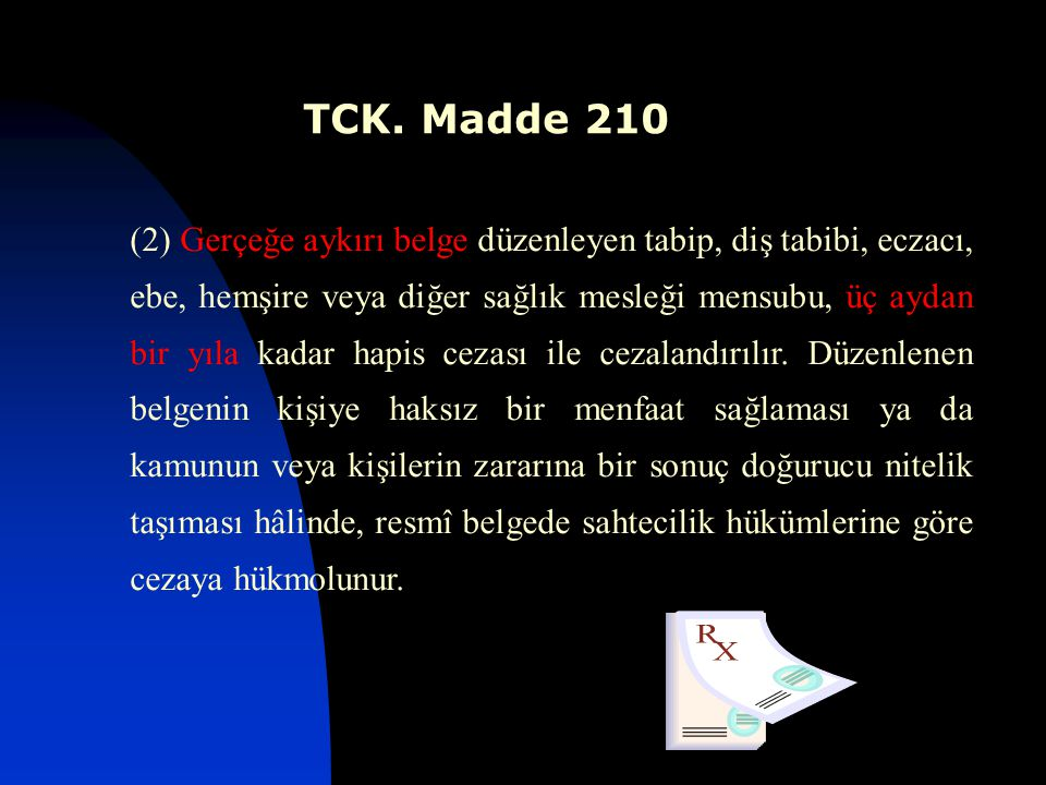 TCK. Madde 210