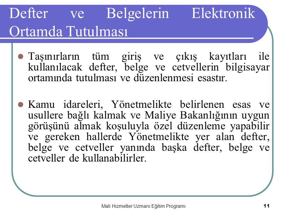 Defter ve Belgelerin Elektronik Ortamda Tutulması