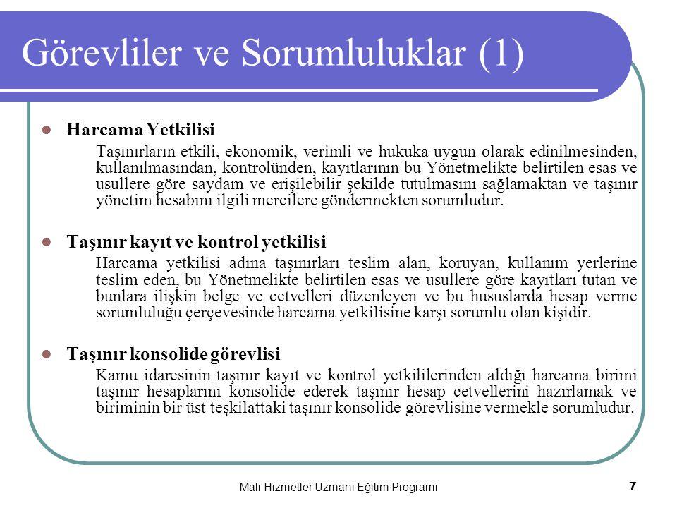 Görevliler ve Sorumluluklar (1)