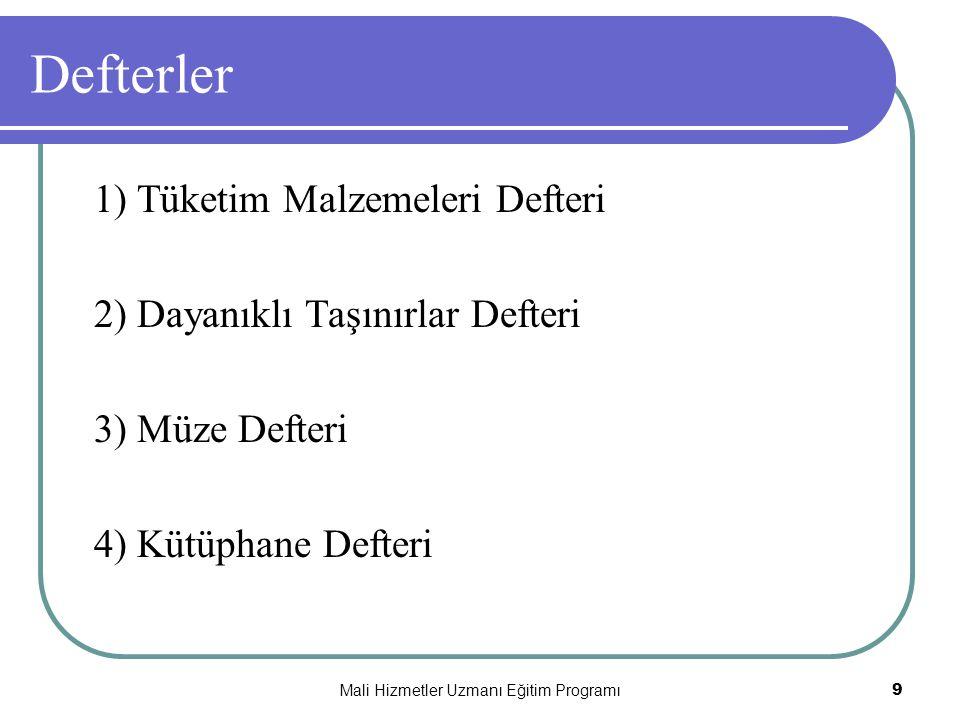 Mali Hizmetler Uzmanı Eğitim Programı