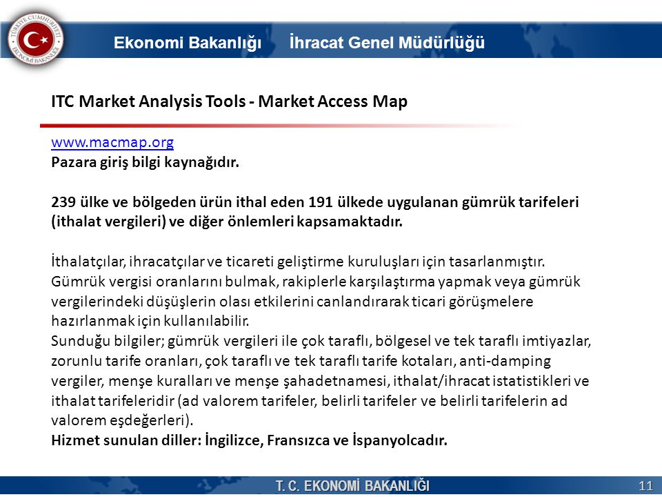 ITC Market Analysis Tools - Market Access Map
