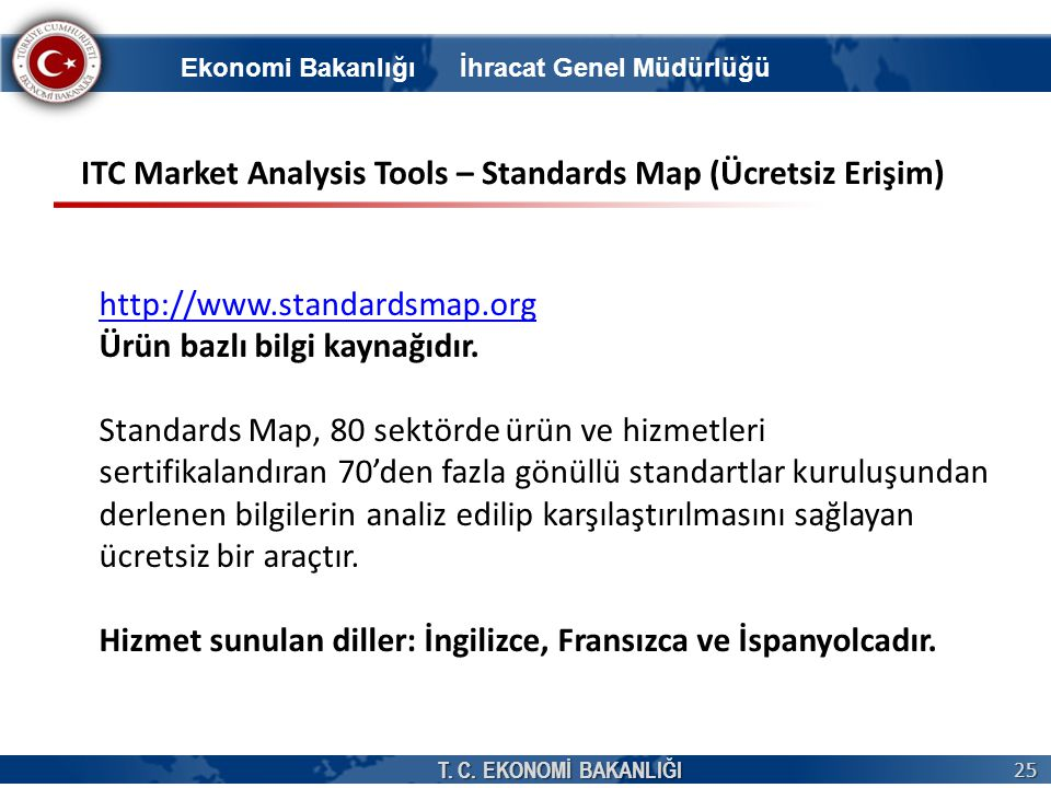 ITC Market Analysis Tools – Standards Map (Ücretsiz Erişim)