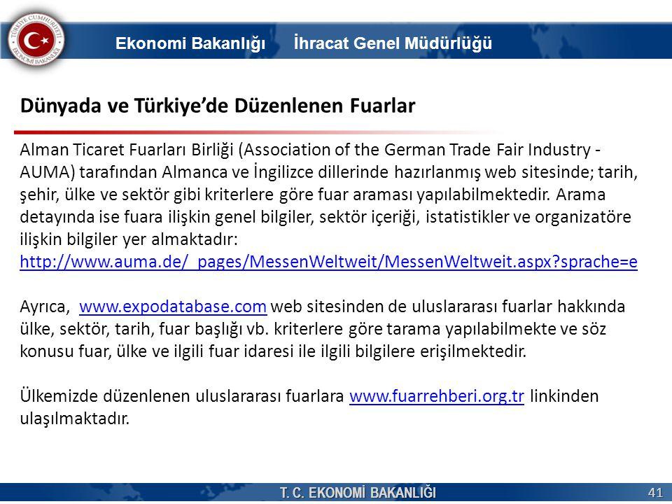 Dünyada ve Türkiye'de Düzenlenen Fuarlar