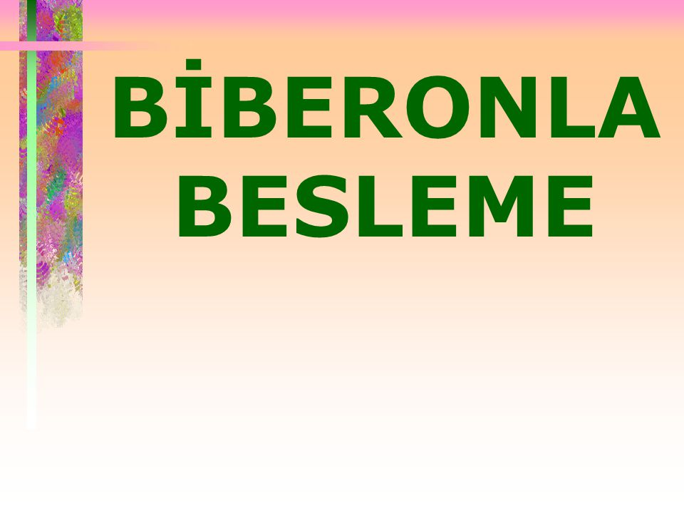 BİBERONLA BESLEME