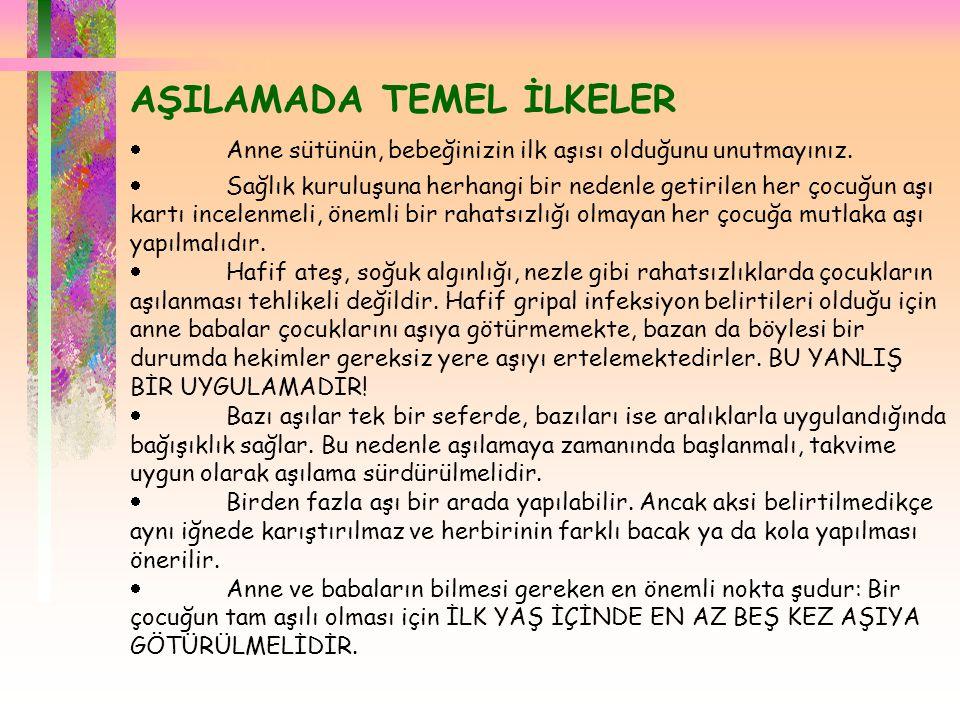 AŞILAMADA TEMEL İLKELER
