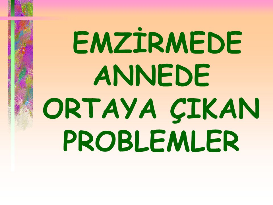 EMZİRMEDE ANNEDE ORTAYA ÇIKAN PROBLEMLER
