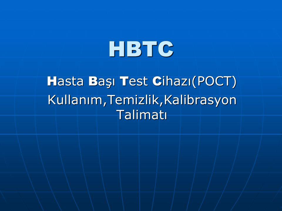 Hasta Başı Test Cihazı(POCT) Kullanım,Temizlik,Kalibrasyon Talimatı