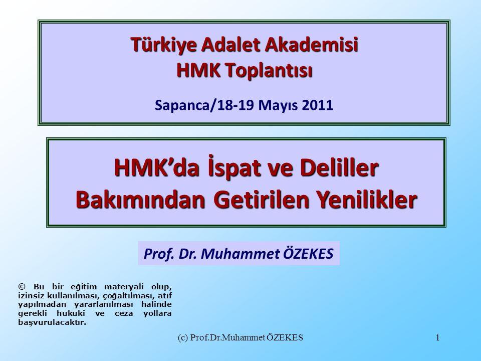Türkiye Adalet Akademisi HMK Toplantısı Sapanca/18-19 Mayıs 2011