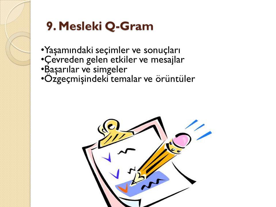 9. Mesleki Q-Gram Yaşamındaki seçimler ve sonuçları