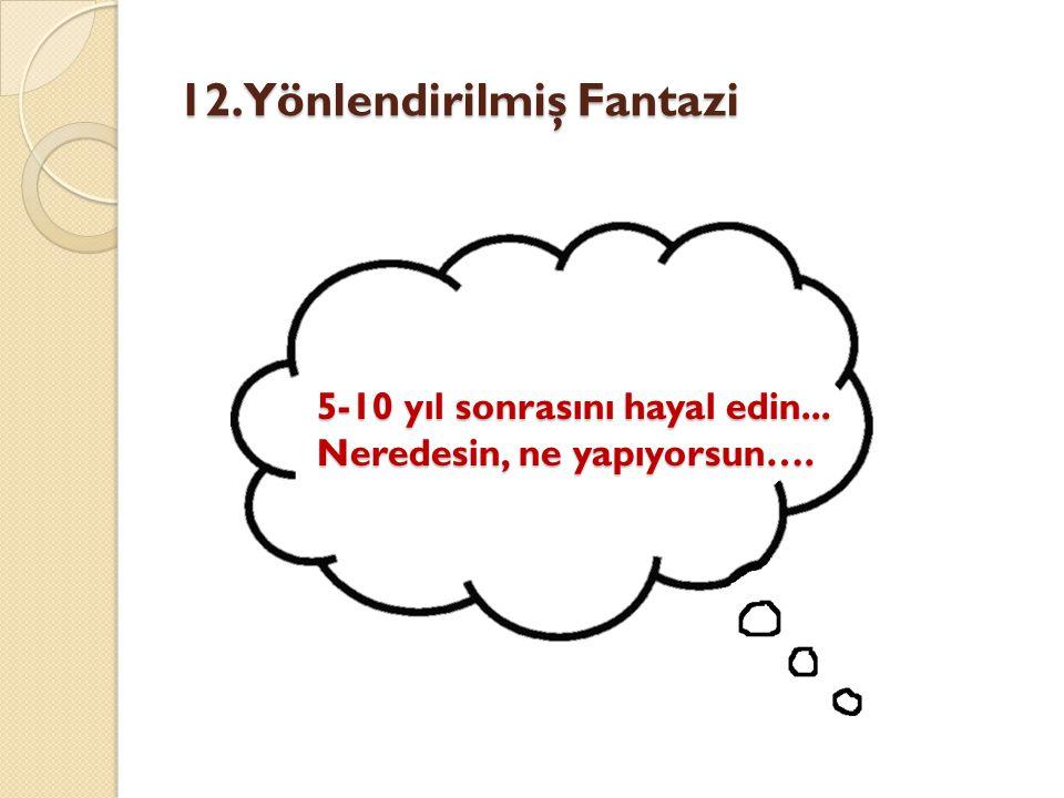 12. Yönlendirilmiş Fantazi