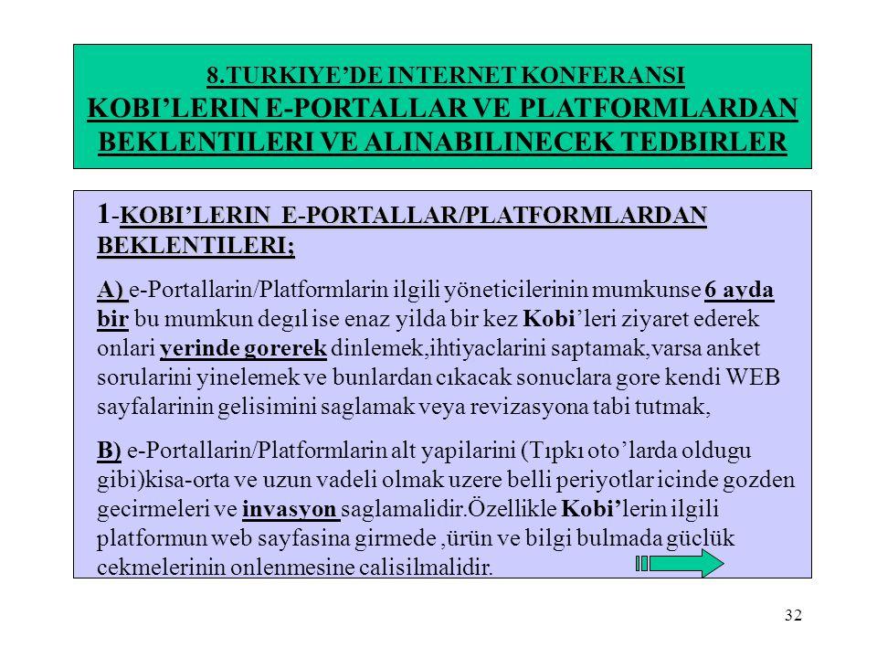 8.TURKIYE'DE INTERNET KONFERANSI