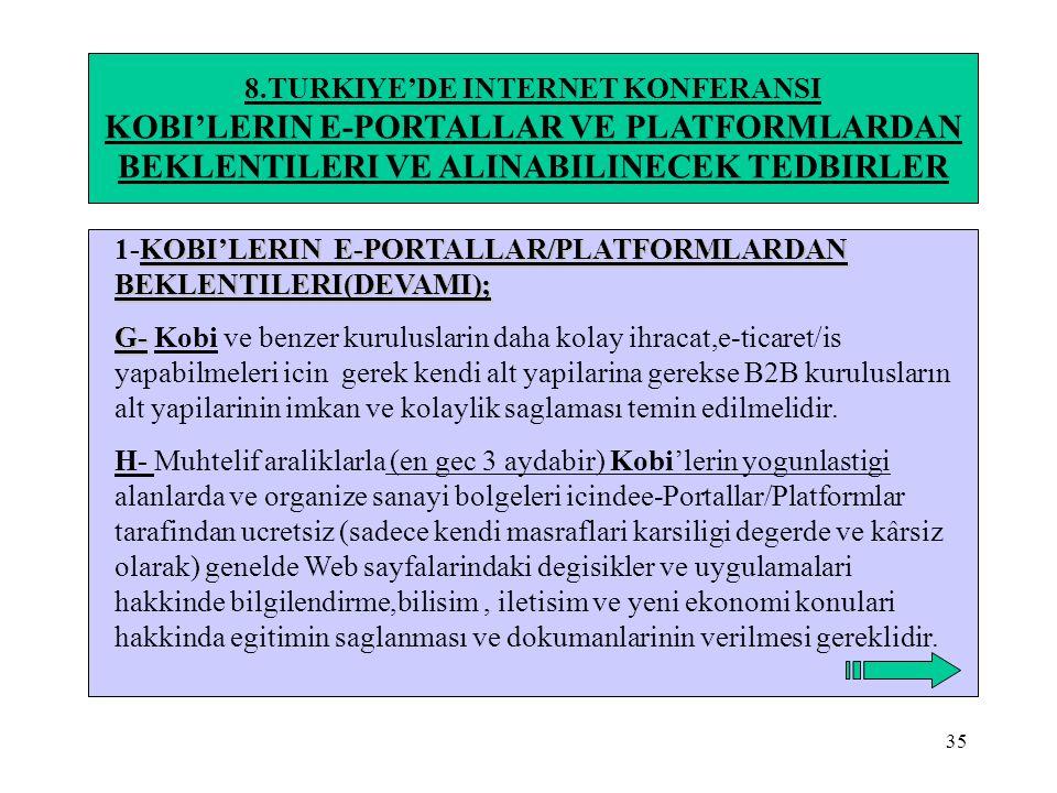 KOBI'LERIN E-PORTALLAR VE PLATFORMLARDAN