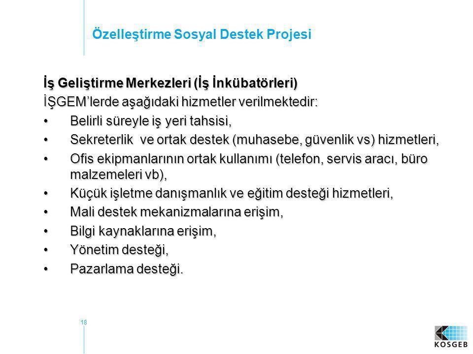 Özelleştirme Sosyal Destek Projesi