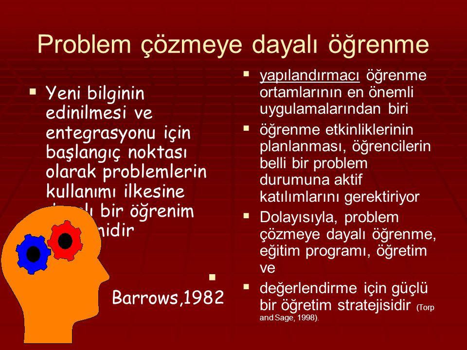 Problem çözmeye dayalı öğrenme