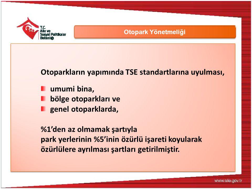 Otoparkların yapımında TSE standartlarına uyulması, umumi bina,
