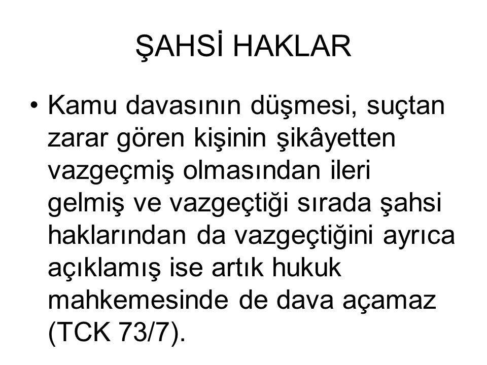 ŞAHSİ HAKLAR