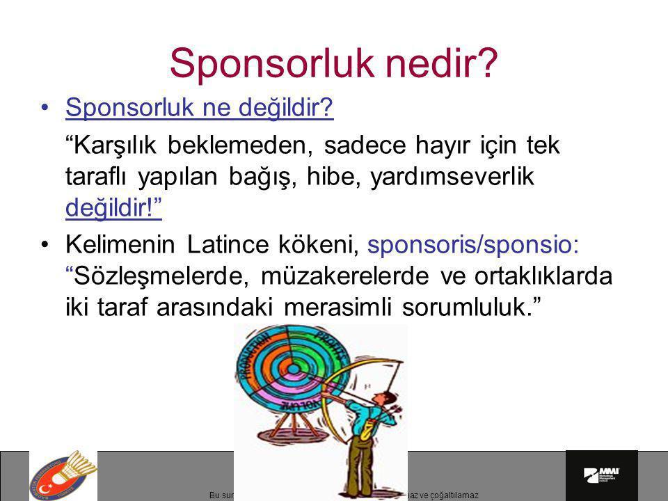Sponsorluk nedir Sponsorluk ne değildir