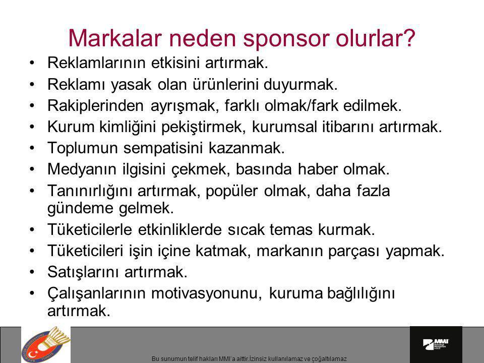 Markalar neden sponsor olurlar