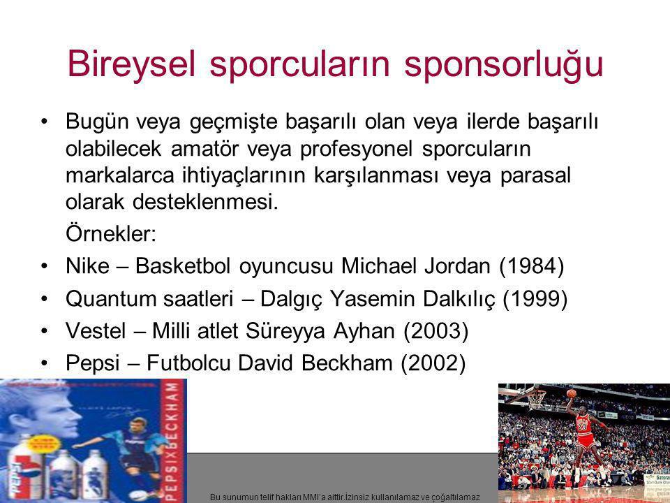 Bireysel sporcuların sponsorluğu