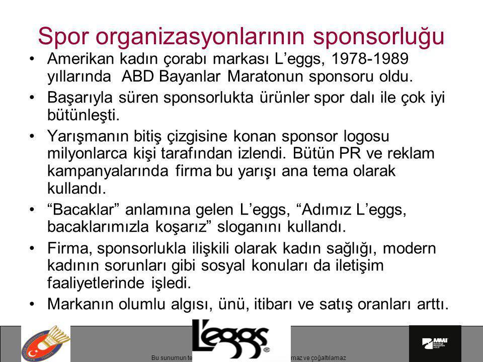 Spor organizasyonlarının sponsorluğu