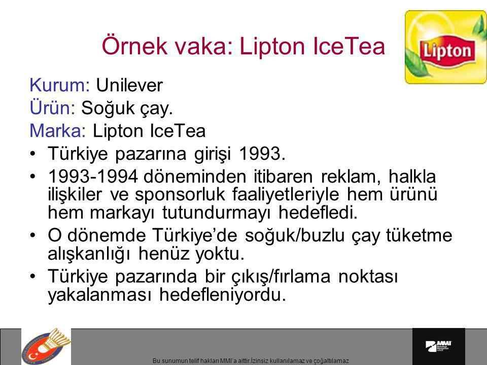 Örnek vaka: Lipton IceTea