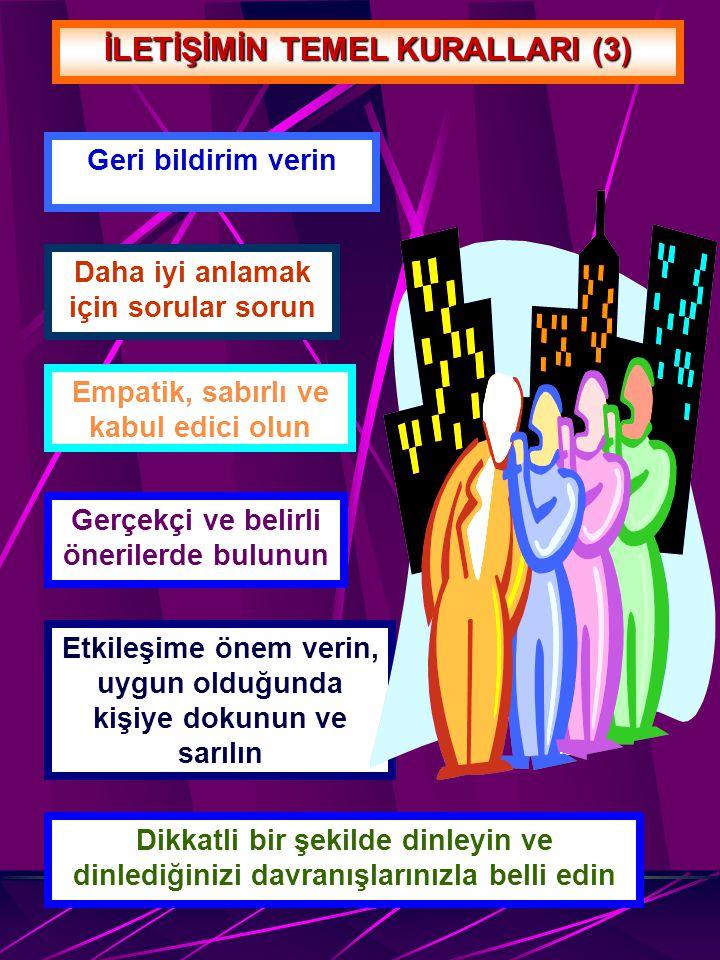 İLETİŞİMİN TEMEL KURALLARI (3)
