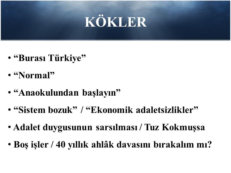 KÖKLER Burası Türkiye Normal Anaokulundan başlayın