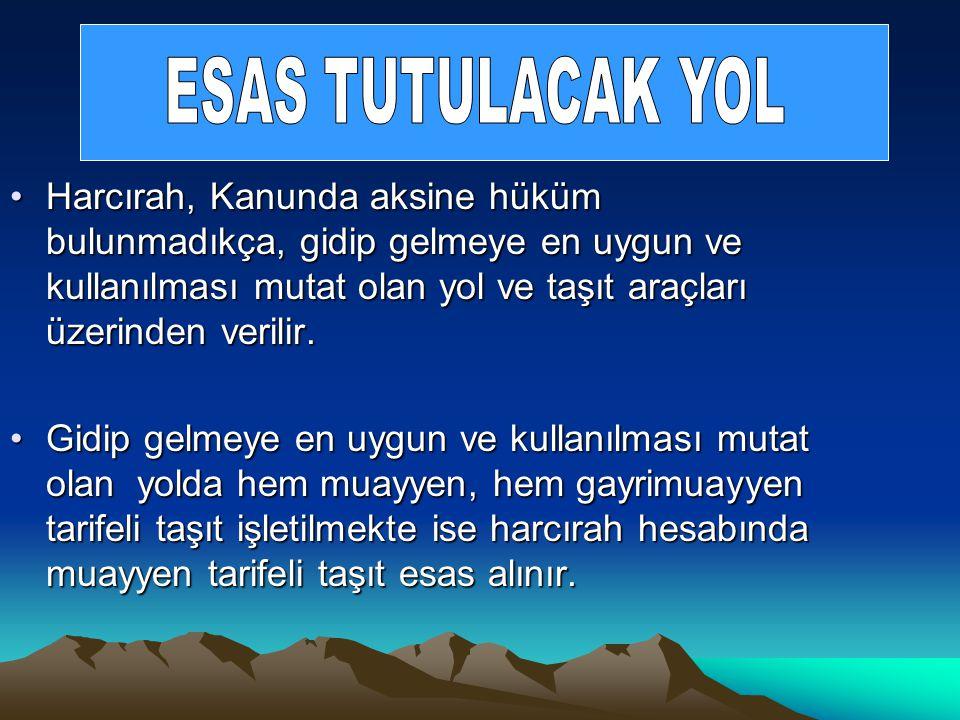 ESAS TUTULACAK YOL