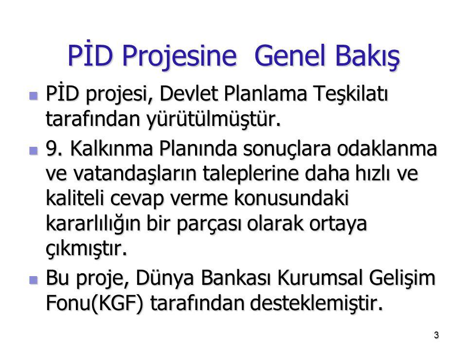 PİD Projesine Genel Bakış