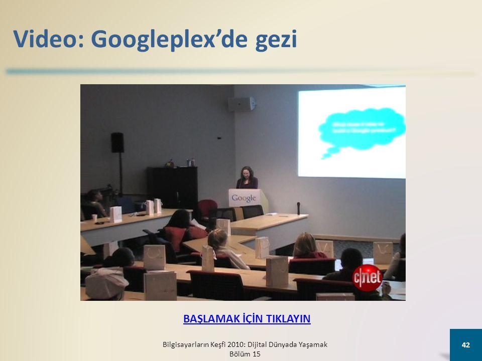 Video: Googleplex'de gezi