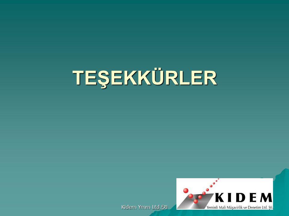TEŞEKKÜRLER Kidem Ymm Ltd.Şti