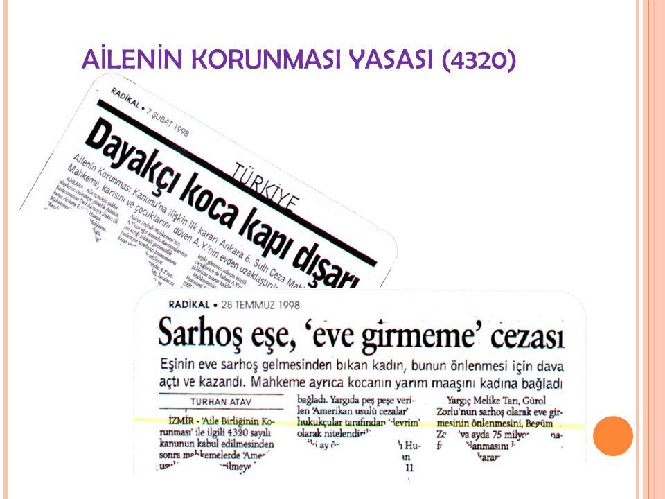 AİLENİN KORUNMASI YASASI (4320)